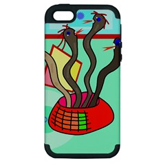 Dancing  snakes Apple iPhone 5 Hardshell Case (PC+Silicone)