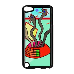 Dancing  snakes Apple iPod Touch 5 Case (Black)