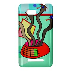 Dancing  snakes HTC One SU T528W Hardshell Case