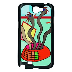 Dancing  snakes Samsung Galaxy Note 2 Case (Black)