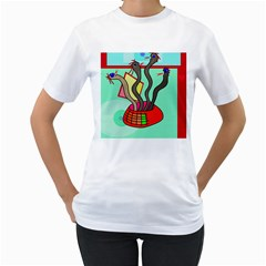Dancing  snakes Women s T-Shirt (White)