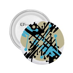 Abstract decor - Blue 2.25  Buttons