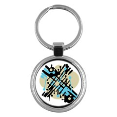 Abstract decor - Blue Key Chains (Round)
