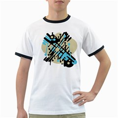 Abstract decor - Blue Ringer T-Shirts