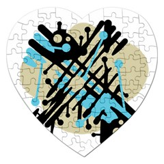 Abstract decor - Blue Jigsaw Puzzle (Heart)