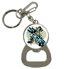 Abstract decor - Blue Bottle Opener Key Chains