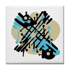 Abstract decor - Blue Face Towel