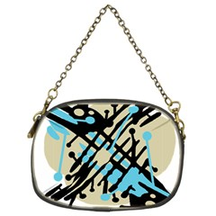Abstract decor - Blue Chain Purses (Two Sides)