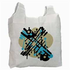 Abstract decor - Blue Recycle Bag (One Side)