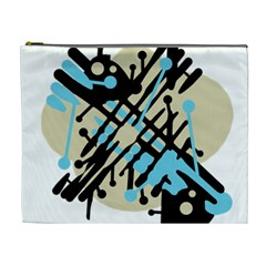 Abstract decor - Blue Cosmetic Bag (XL)
