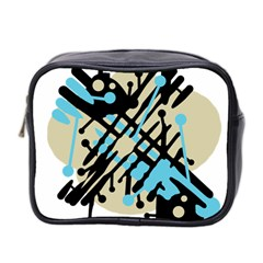 Abstract decor - Blue Mini Toiletries Bag 2-Side