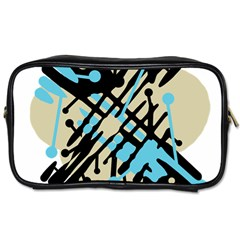 Abstract decor - Blue Toiletries Bags