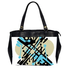 Abstract decor - Blue Office Handbags (2 Sides)