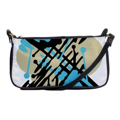 Abstract decor - Blue Shoulder Clutch Bags