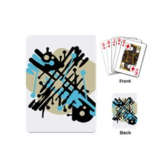 Abstract decor - Blue Playing Cards (Mini)
