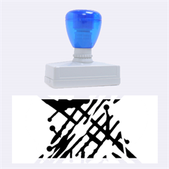 Abstract decor - Blue Rubber Stamps (Large)