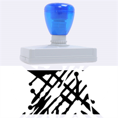 Abstract decor - Blue Rubber Address Stamps (XL)