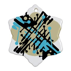 Abstract decor - Blue Ornament (Snowflake)