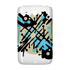 Abstract decor - Blue HTC ChaCha / HTC Status Hardshell Case