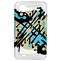 Abstract decor - Blue HTC Incredible S Hardshell Case