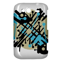 Abstract decor - Blue HTC Wildfire S A510e Hardshell Case