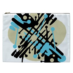 Abstract decor - Blue Cosmetic Bag (XXL)