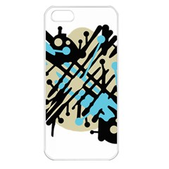 Abstract decor - Blue Apple iPhone 5 Seamless Case (White)