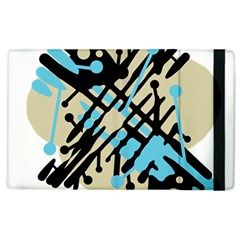 Abstract decor - Blue Apple iPad 2 Flip Case
