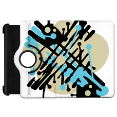 Abstract decor - Blue Kindle Fire HD Flip 360 Case