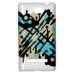 Abstract decor - Blue HTC 8S Hardshell Case