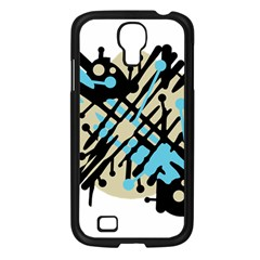 Abstract decor - Blue Samsung Galaxy S4 I9500/ I9505 Case (Black)