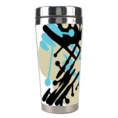Abstract decor - Blue Stainless Steel Travel Tumblers