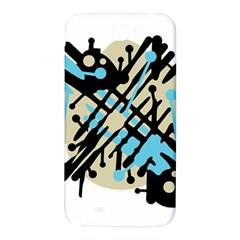 Abstract decor - Blue Samsung Note 2 N7100 Hardshell Back Case