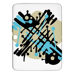 Abstract decor - Blue Samsung Galaxy Tab 3 (10.1 ) P5200 Hardshell Case