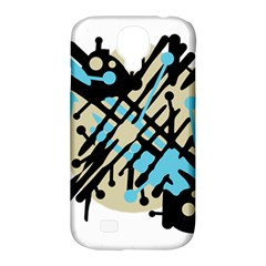 Abstract decor - Blue Samsung Galaxy S4 Classic Hardshell Case (PC+Silicone)