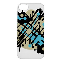 Abstract decor - Blue Apple iPhone 5S/ SE Hardshell Case