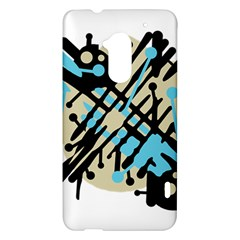 Abstract decor - Blue HTC One Max (T6) Hardshell Case