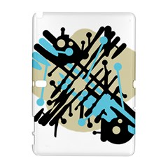 Abstract decor - Blue Samsung Galaxy Note 10.1 (P600) Hardshell Case