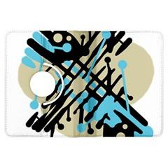 Abstract decor - Blue Kindle Fire HDX Flip 360 Case