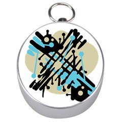 Abstract decor - Blue Silver Compasses