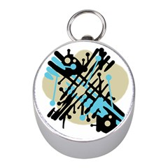 Abstract decor - Blue Mini Silver Compasses