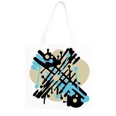 Abstract decor - Blue Grocery Light Tote Bag