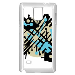 Abstract decor - Blue Samsung Galaxy Note 4 Case (White)