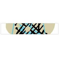 Abstract decor - Blue Flano Scarf (Large)
