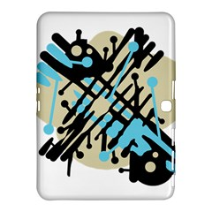 Abstract decor - Blue Samsung Galaxy Tab 4 (10.1 ) Hardshell Case