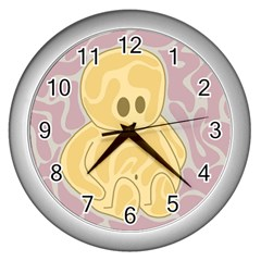 Cute thing Wall Clocks (Silver)