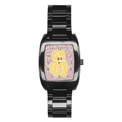 Cute thing Stainless Steel Barrel Watch