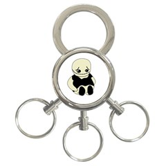 Halloween Sad Monster 3 Ring Key Chains