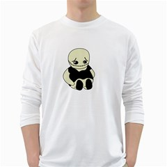 Halloween sad monster White Long Sleeve T-Shirts