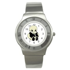 Halloween sad monster Stainless Steel Watch